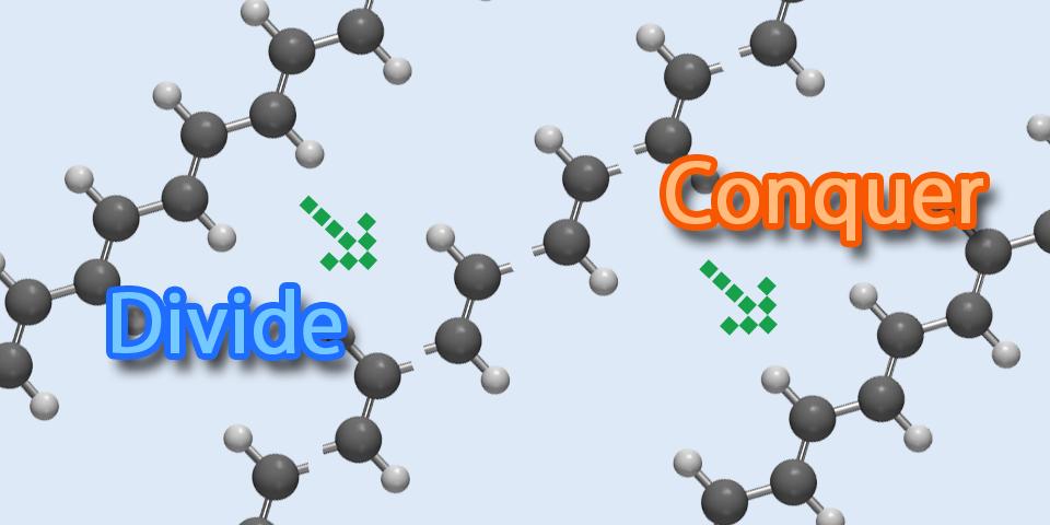 Large-scale quantum chemistry with DC techniques